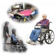 教老年人认识各种老年人轮椅
